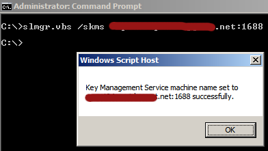 Error when activating Server 2008/Windows 7 via KMS – 33KB available
