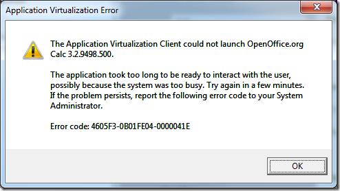 App-V Error  04-0000041E