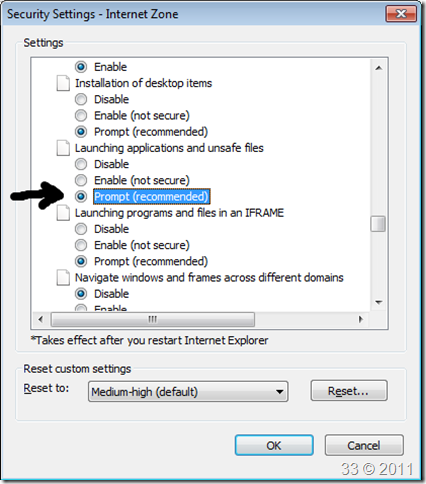 Fixed: your current security settings do not allow this file to be.