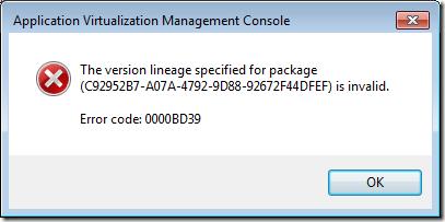 AppV Error code 0000BD39