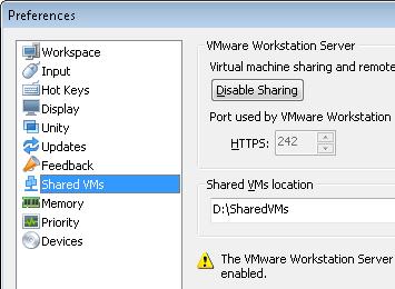 change sharedVMs location